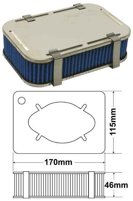 gbs filtre a air weber carburateurs. Black Bedroom Furniture Sets. Home Design Ideas